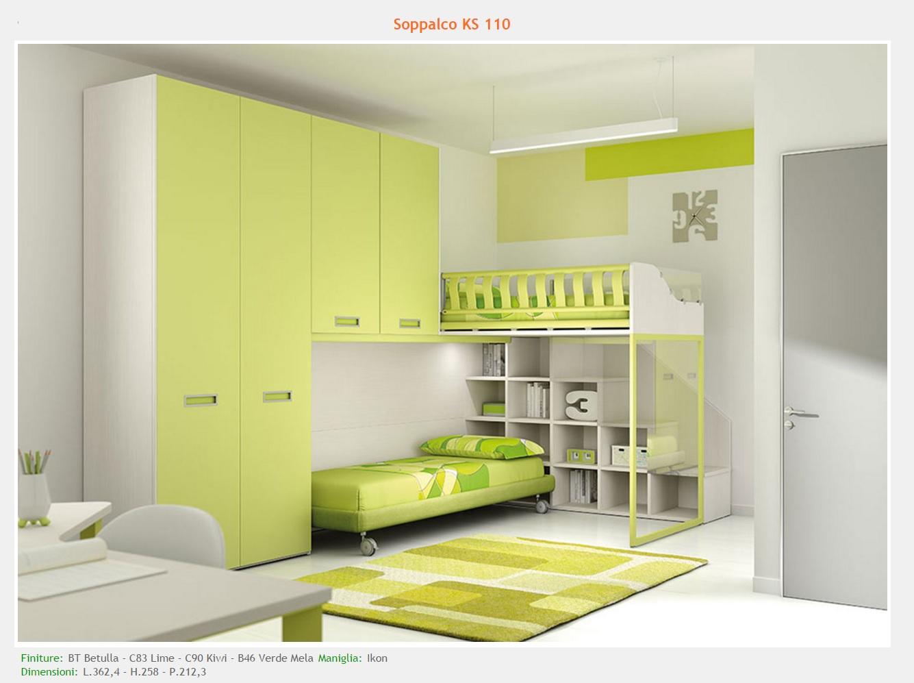 Spazio tre camerette modelli - Camerette verde mela ...
